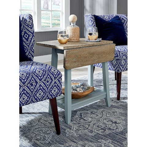 The Gray Barn Rectory Solid Wood Drop Leaf End Table