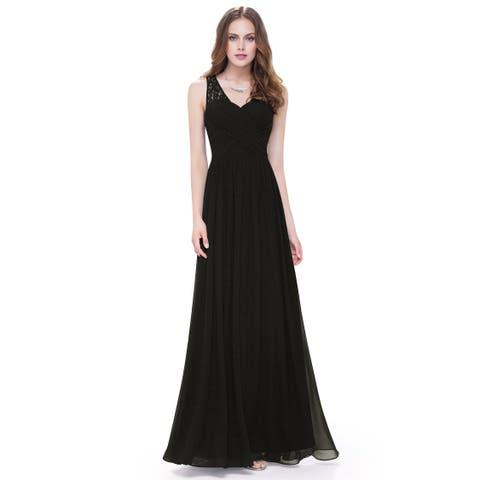 bd668ff4da Ever-Pretty Women s Elegant V-neck Long Evening Party Dress 08871