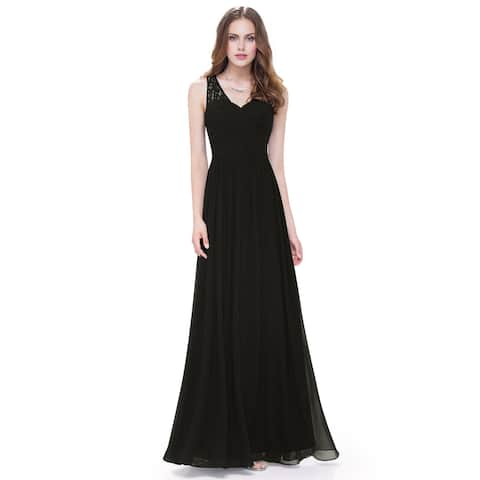 90a957c05c Ever-Pretty Women s Elegant V-neck Long Evening Party Dress 08871