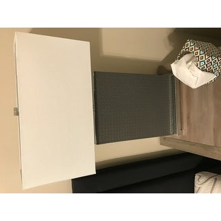 "Safavieh Lighting 27.75-inch Joyce Faux Woven Leather Grey Table Lamp (Set of 2) - 18"" x 8 "" x 27.75"""