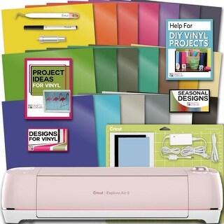 Cricut Explore Air 2 Machine Bundle 20 Sheets Vibrant Vinyl Pack Tool Designs