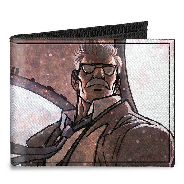 James Gordon Close Up Lights Pose Grays Canvas Bi Fold Wallet One Size - One Size Fits most