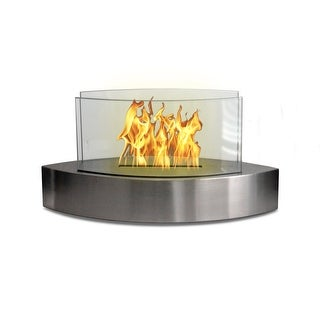 Lexington(Stainless Steel) Table Top Bio Ethanol Ventless Fireplace