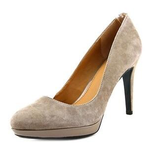 Calvin Klein Paulette Round Toe Suede Heels