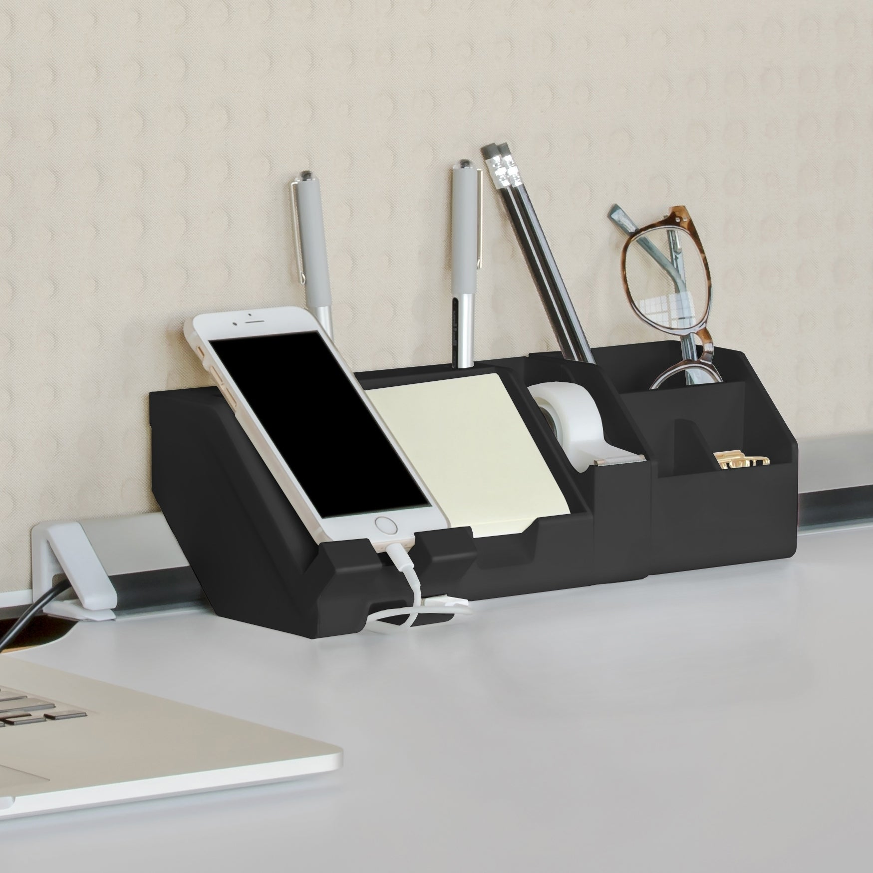 Vertical or Horizontal Docking Bostitch Konnect USB Charging Phone Stand Gray