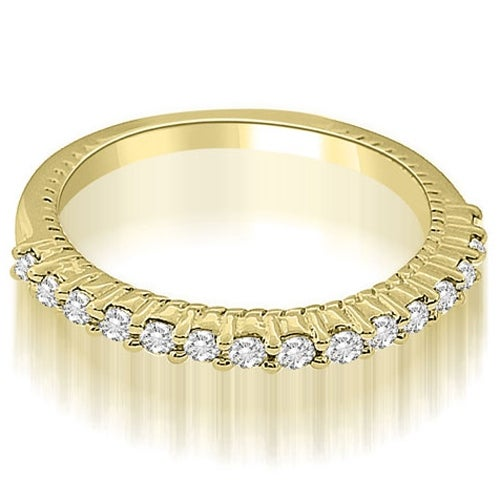 0.27 cttw. 14K Yellow Gold Antique Style Petite Round Cut Diamond Wedding Ring