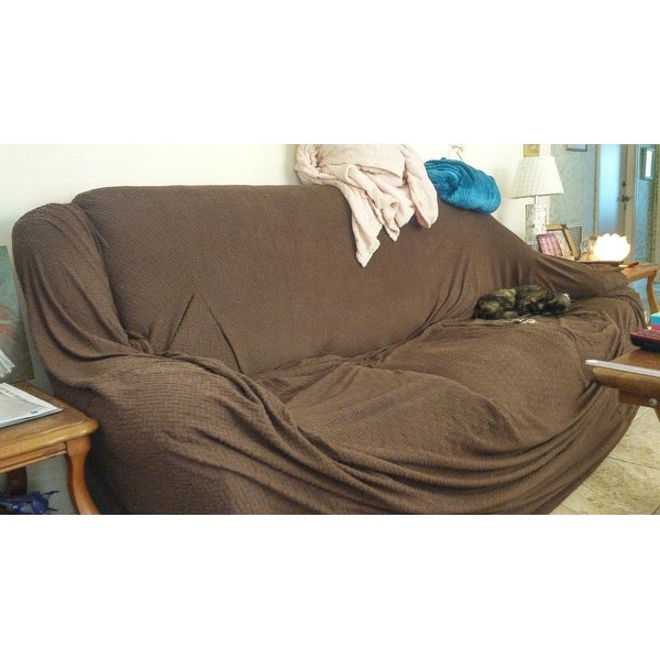 Basketweave Stretch Sofa Slipcover Free Shipping On Orders Over 45 9596624
