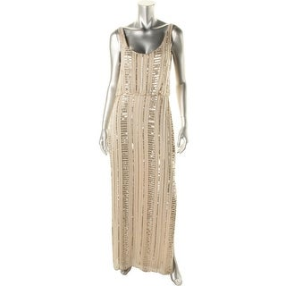 Aidan Mattox Womens Embellished Sleeveless Formal Dress