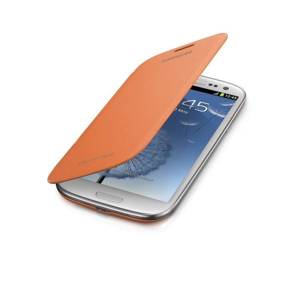 Samsung Galaxy S3 Flip Cover Case - Orange