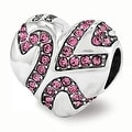Sterling Silver Reflections Swarovski Elements Hearts on Heart Bead (4mm Diameter Hole) - Thumbnail 0