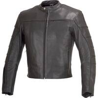Men Classic Cafe Racer Style Leather Motorcycle Jacket MBJ022