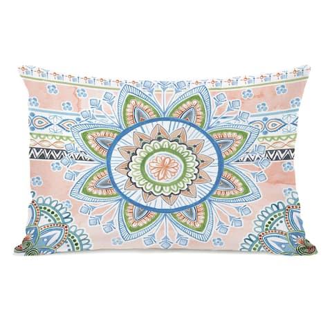 Floral Summer - Lumbar Pillow by Melissa Wang
