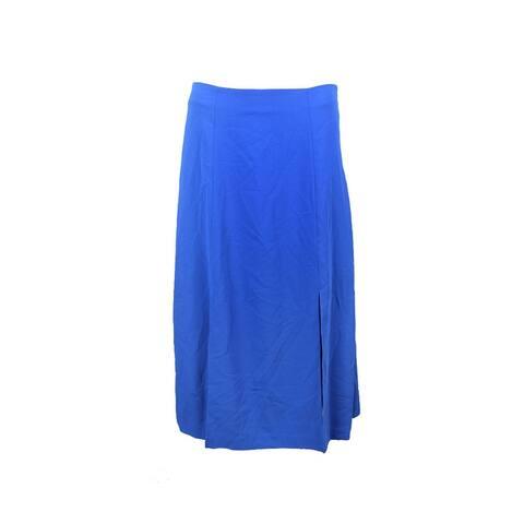 Lauren Ralph Lauren Blue Crepe A-Line Skirt 2