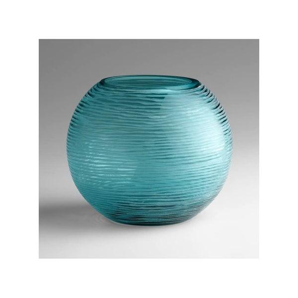 "Cyan Design 4361 6.75"" Large Round Libra Vase - aqua - N/A"