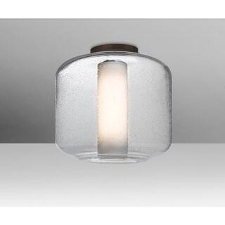 "Besa Lighting NILES10COC Niles Single Light 9-1/2"" Wide Semi Flush Ceiling Fixtu"