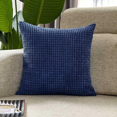 """Super Soft Solid Velvet Decorative Plush Pillow Cover for Couch, Sofa 18"""" x 18"""""""