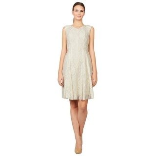 Nina Ricci Embroidered Lace Ruffled BaPanel Evening Dress - 8