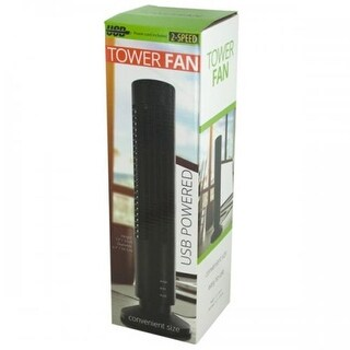 Bulk Buys OL776 USB Powered Tower Fan, Black