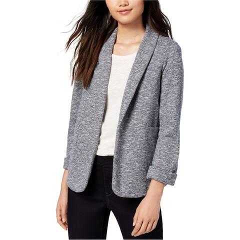 maison Jules Womens Marled Knit Blazer Jacket, Blue, X-Small