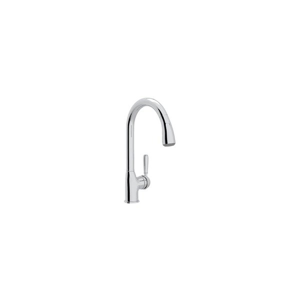 Rohl R7504LM-2 Classic Pull-Down Spray Kitchen Faucet with Metal Lever Handle