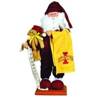 "15"" NCAA Iowa State Cyclones Pajama Santa Claus Table Top Christmas Decoration - YELLOW"