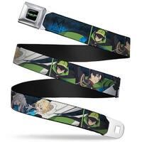 Seraph Of The End Vampire Reign Logo Full Color Black Greens White Seraph Seatbelt Belt