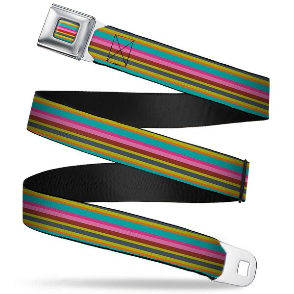 Rz Stripes2 Full Color Gray Olive Orange Turquoise Pinks Rz Stripes2 Gray Seatbelt Belt