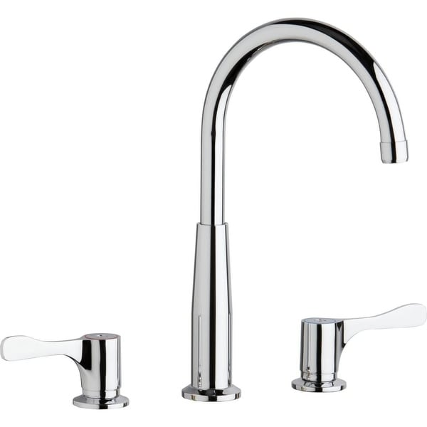 Shop Elkay Lkd232sbh5c High Arc Widespread Kitchen Faucet Chrome