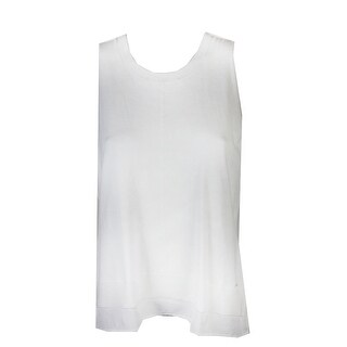Tommy Hilfiger Ivory Sleeveless Layered-Look Shell L