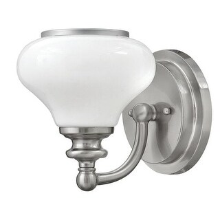 Hinkley Lighting 56550 1 Light Bathroom Bath Sconce with Frosted Glass Shade from the Ainsley Collection