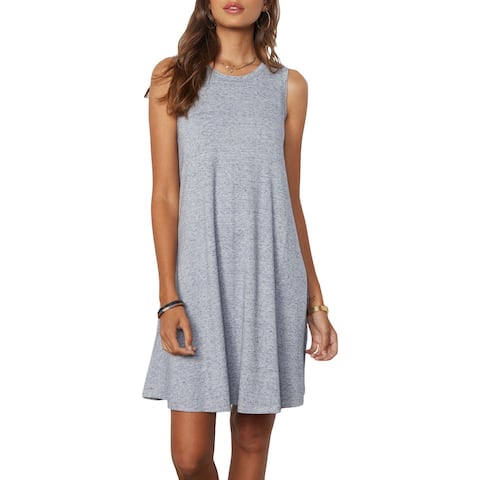 Tart Collections Bailie Women's Sleeveless Heathered A-Line Mini Tank Dress - Speckled Blue