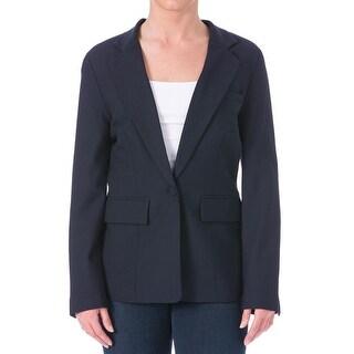 Priory of Ten Womens Wool Checkered Blazer - 4