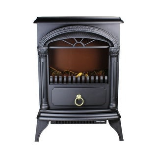 Link to Comfort Zone CZFP4 1500-Watt Electric Fireplace Stove Heater with Realistic 3D Flame Effect, Black Similar Items in Heaters, Fans & AC