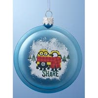 "3.5"" Despicable Me Blue Minions ""Share"" Disc Christmas Ornament"