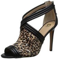 Joe's Jeans Womens dexter Closed Toe Ankle Strap Classic Pumps - black/natural leopard