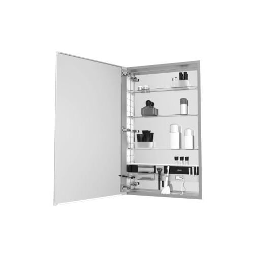 Robern Mc1640d4fble4 M Series 16 X 40 4 Flat Beveled Single Door Medicine Cabinet With Left Hinge Integrated Outlets Free Shipping Today