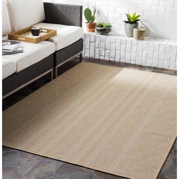 Daryl Indoor/ Outdoor Tribal Stripe Area rug. Opens flyout.