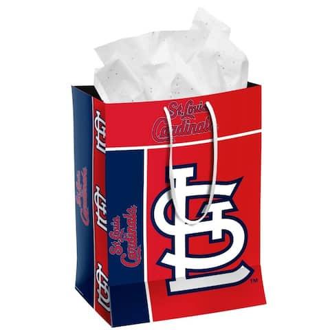 St. Louis Cardinals Gift Bag Medium - 13x10x5.5 inches