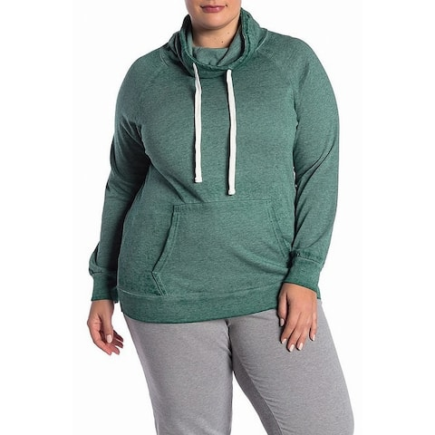 Planet Gold Women's Plus Drawstring Cowl Neck Sweater $23