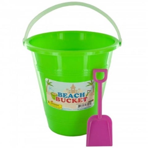 Bulk Buys OS181-12 Beach Bucket with Attached Shovel, 12 Piece
