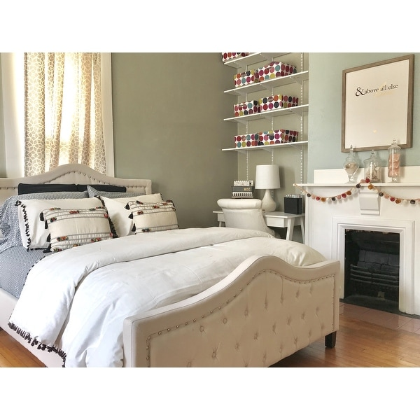 0f0738d89d0e Shop Virgil Upholstered Tufted Queen Bed by Christopher Knight Home - On  Sale - Free Shipping Today - Overstock - 14047250