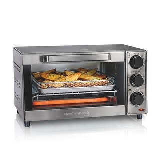 Link to Hamilton Beach Sure-Crisp 4 Slice Air Fryer Toaster Oven Similar Items in Kitchen Appliances