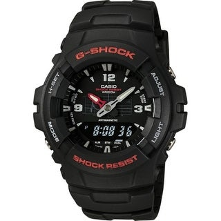 Casio g100-1bv g shock analog digital watch