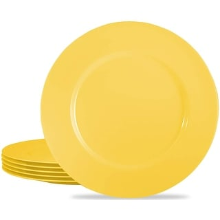 "Link to Calypso Basics by Reston Lloyd Melmaine Salad Plates, lemon, Set of 6 -  8 1/2""D and center of plate is 5 1/2""D Similar Items in Cooking Essentials"