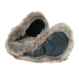 180s Women's Down Wrap Around Earmuffs with Faux Fur