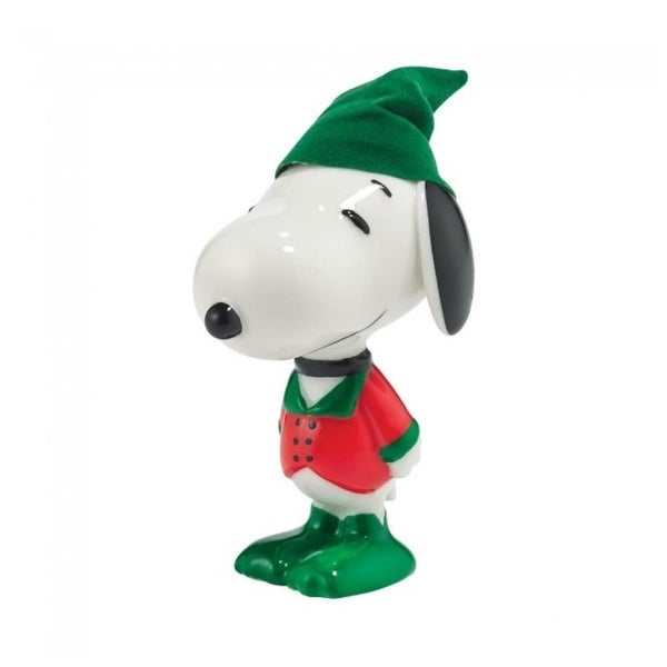 "Department 56 Peanuts Snoopy By Design ""Holly Jolly Hound"" Christmas Figurine #4044972 - green"