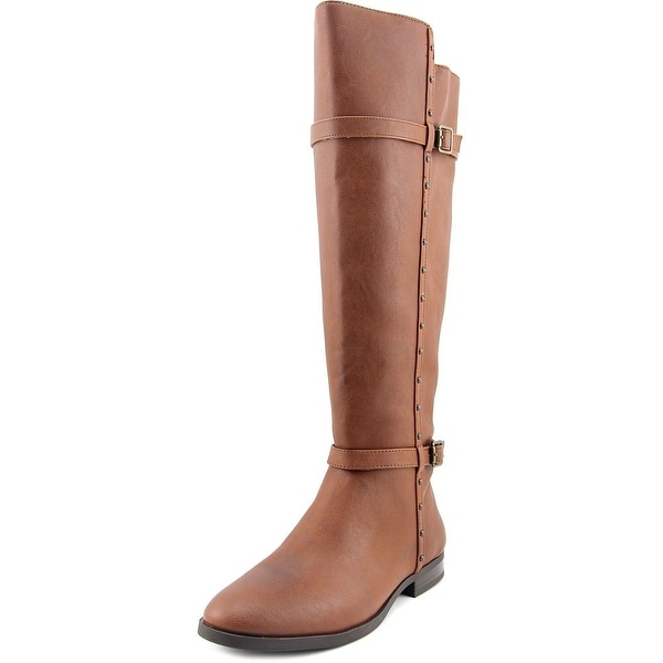 INC International Concepts Ameliee Wide Calf Women Brown Knee High Boot