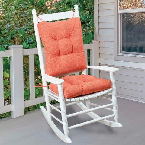 Klear Vu Solarium Indoor/Outdoor Rocking Chair Pad Set