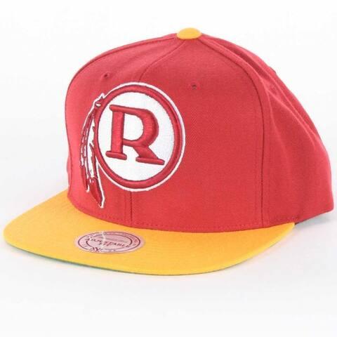 Mitchell & Ness Washington Redskins XL 2 Tone Logo Snapback Hat - Red/Gold