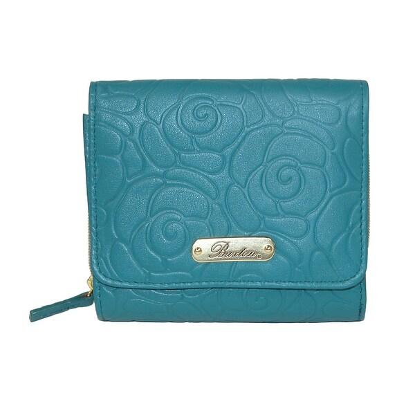 Buxton Women's Rose Garden Leather Embossed Zipper Wallet - One size